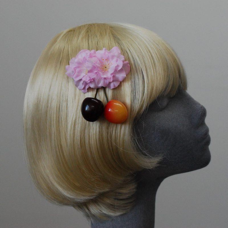 Pink Blossom Flower Cherry Hair Clip