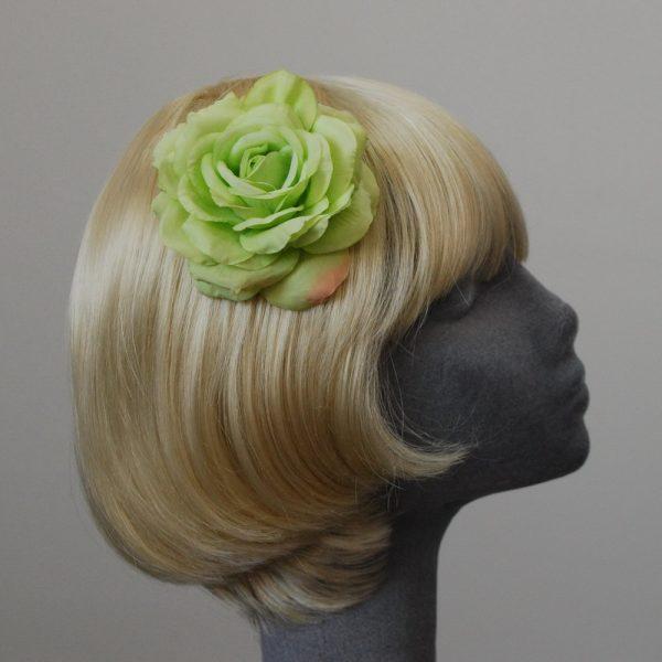 Green Rose Hair Clip