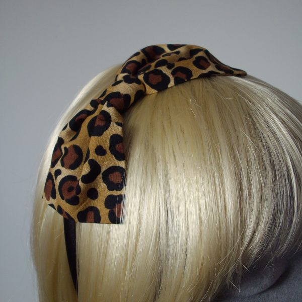 Leopard Bow Headband detail