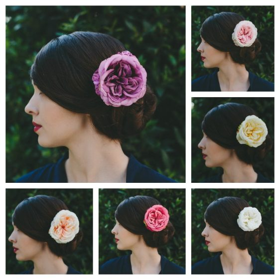 Lilac Rose Hair Clip collage