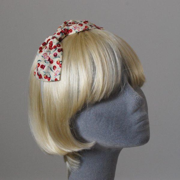 Yellow Cherry Bow Headband