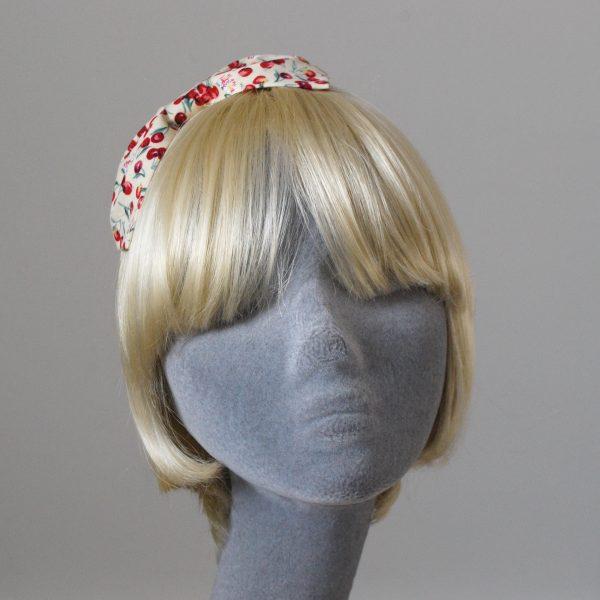 Yellow Cherry Bow Headband front