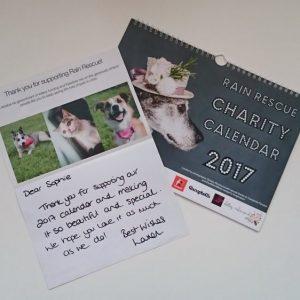Rain Rescue Charity Calendar 2017