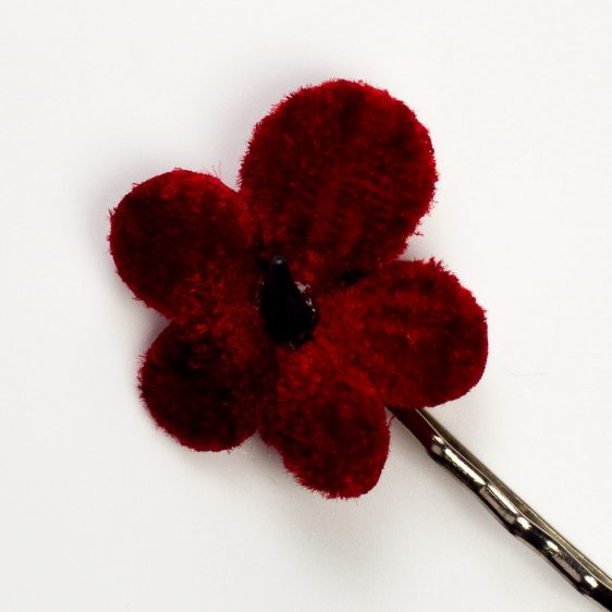 Red Blossom Flower Hair Clips detail2