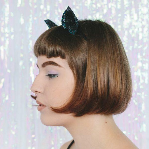 Galaxy Glitter Ears Headband side