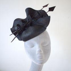Black Straw Re-work Hat - After