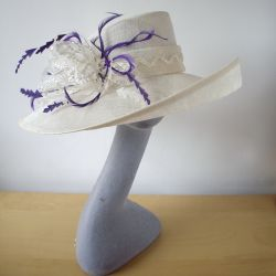 Purple Feather Re-trimed Hat