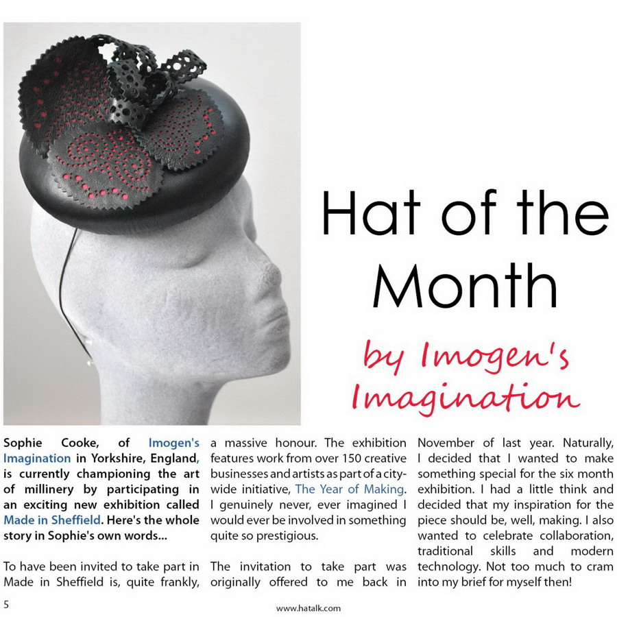 HATalk Hat of the Month article