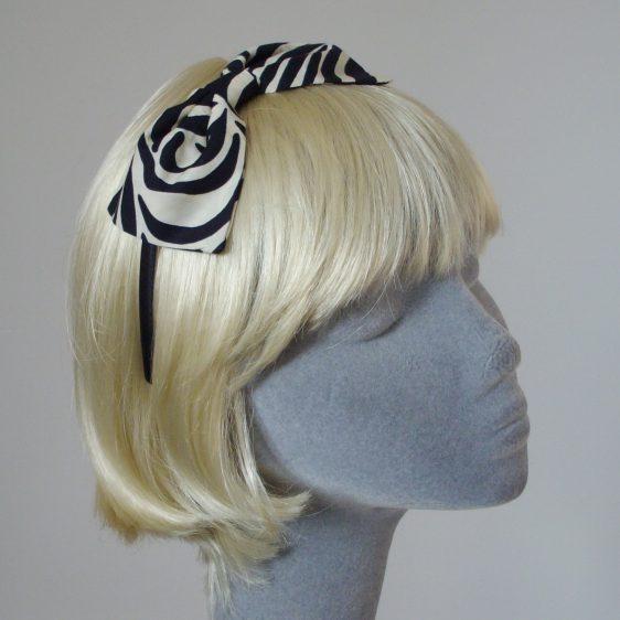 Zebra Print Bow Headband