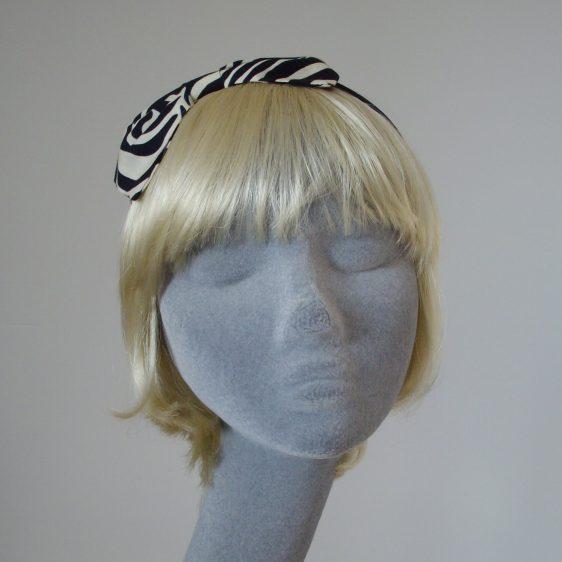 Zebra Print Bow Headband front