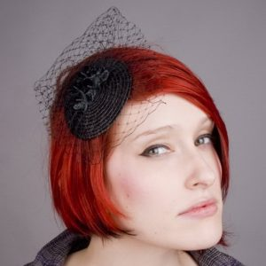 Black Blossom Flower Fascinator