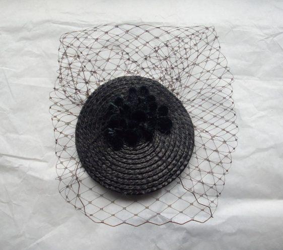 Black Blossom Flower Fascinator top
