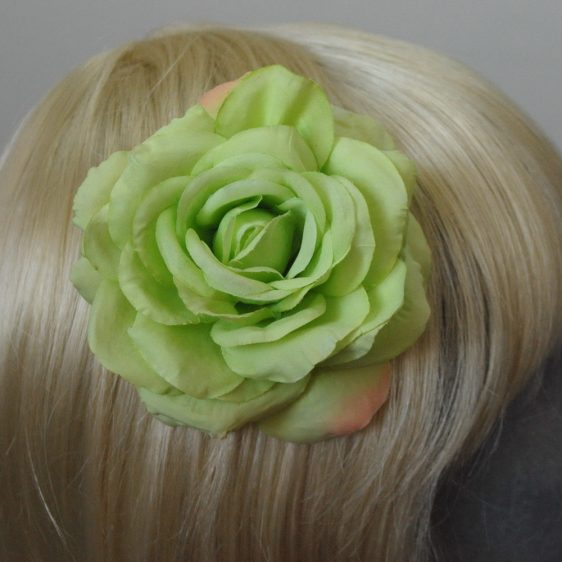 Green Rose Hair Clip detail2