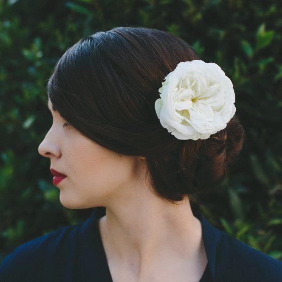 Ivory Rose Hair Clip