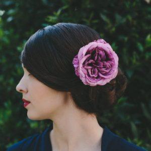 Lilac Rose Hair Clip