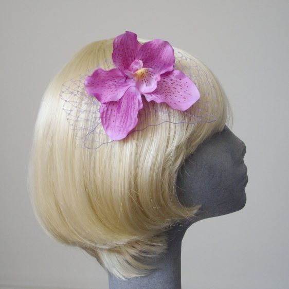 Lilac Orchid Flower Hair Comb