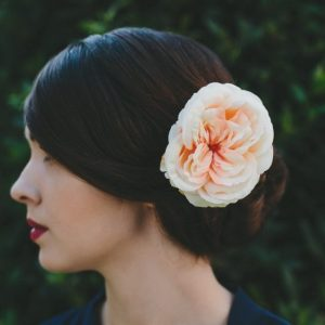 Peach Rose Hair Clip