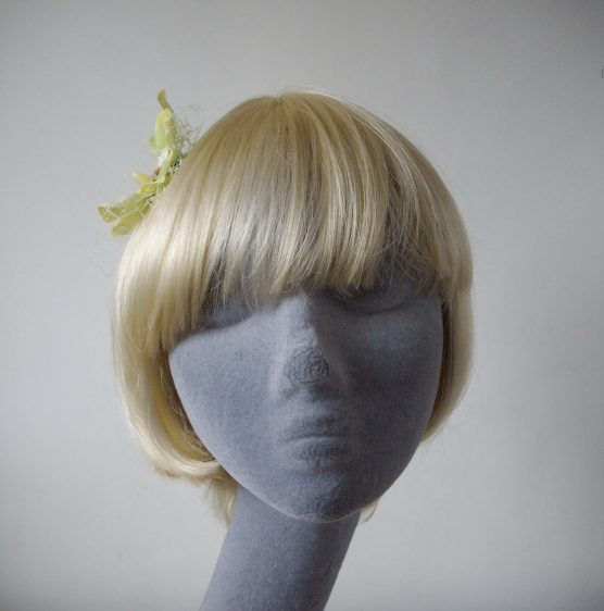 Green Orchid Flower Hair Comb front