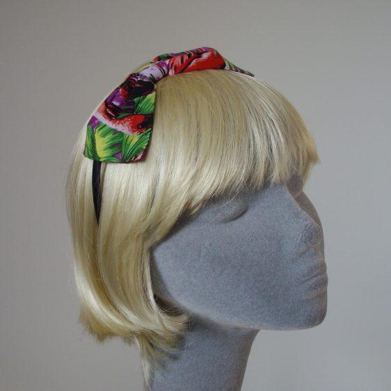 Purple Flamingo Bow Headband