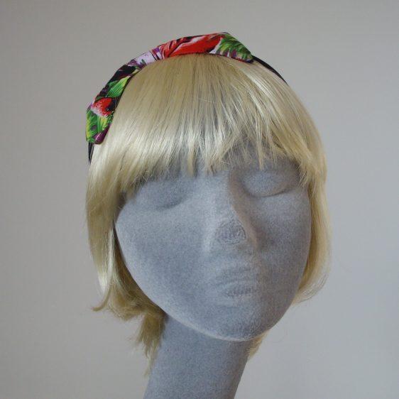 Purple Flamingo Bow Headband front