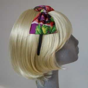 Purple Flamingo Bow Headband side
