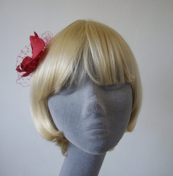 Raspberry Pink Orchid Flower Hair Comb front