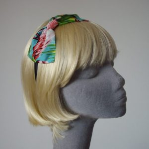 Turquoise Flamingo Bow Headband