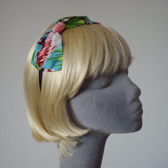 Turquoise Flamingo Bow Headband