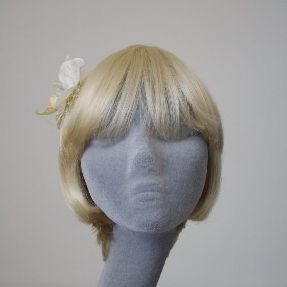 Ivory Orchid Flower Hair Comb front