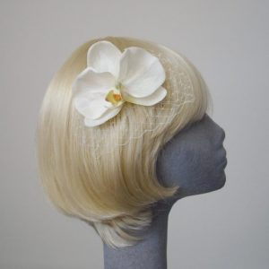 Ivory Orchid Flower Hair Comb