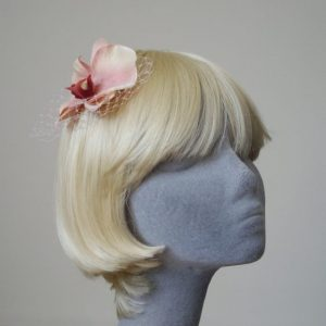 Pale Pink Orchid Flower Hair Comb angle