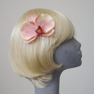 Pale Pink Orchid Flower Hair Comb