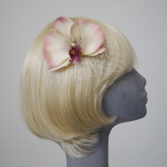 Purple Shaded Orchid Flower Hair Comb
