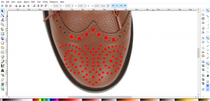 Creating the brogue pattern