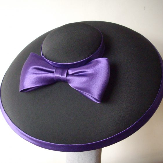 Black Mushroom Brimmed Hat with Bow