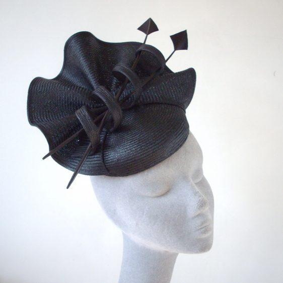 Black Straw Reworked Hat - After
