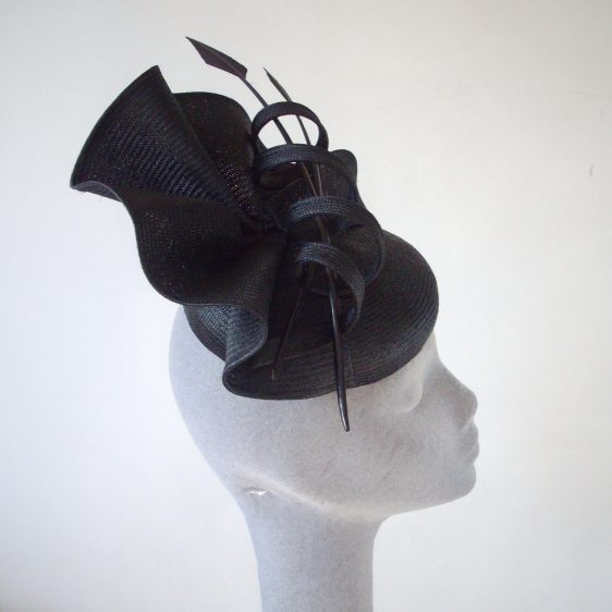 Black Straw Reworked Hat - After