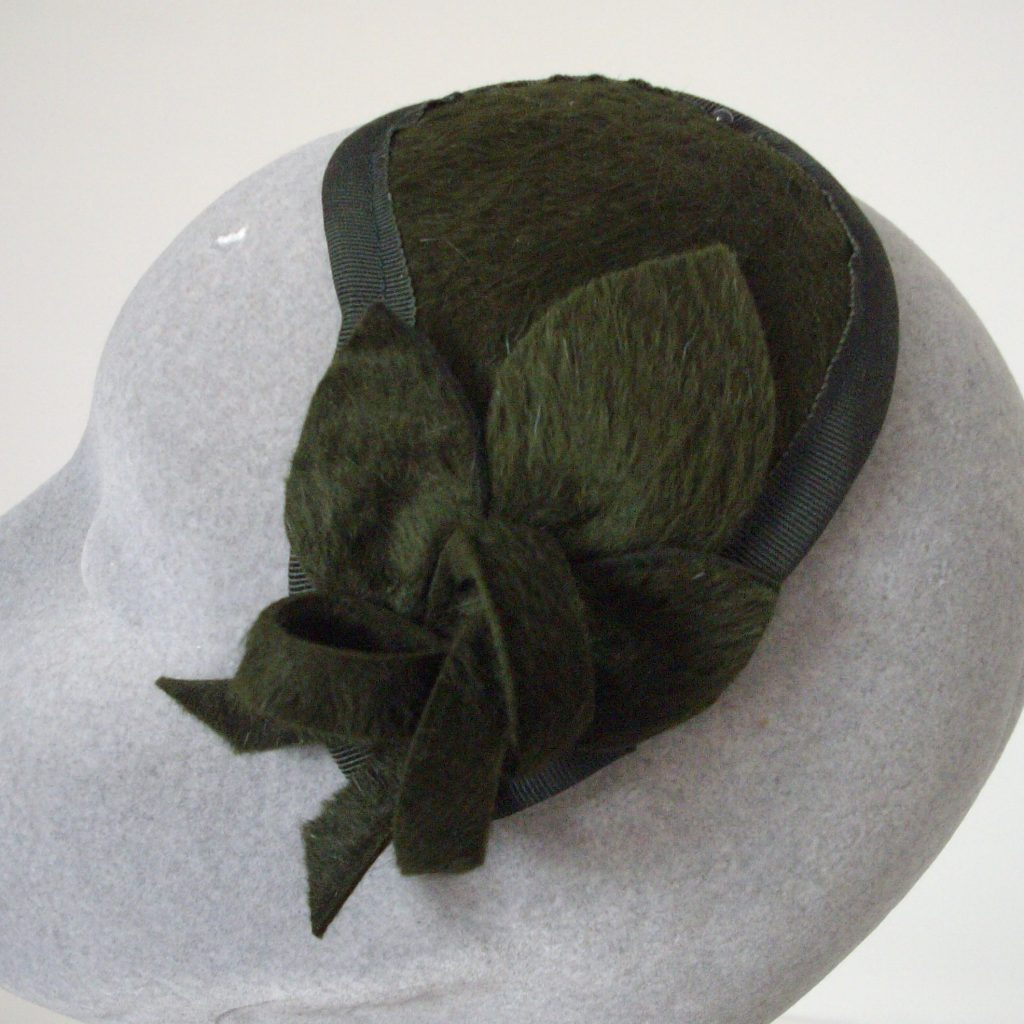 Green Melusine Felt Fascinator