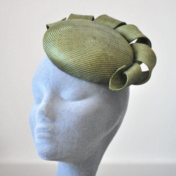 Green Straw Reworked Hat