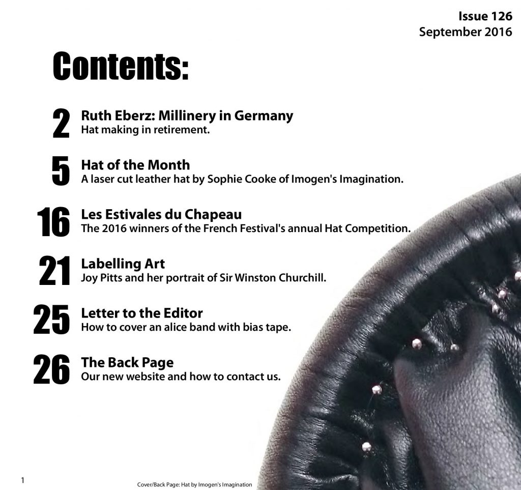 HATalk-Hat of the Month- Contents Page