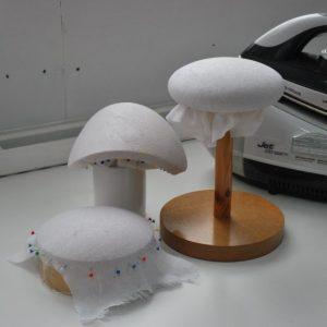 Blocking buckram hat bases