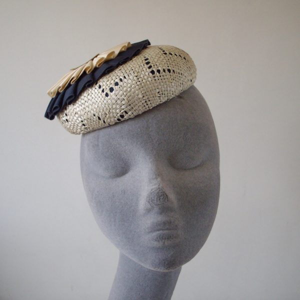 Natural_Straw_Navy_Ribbon_Rosette_Button_Beret_Hat-front