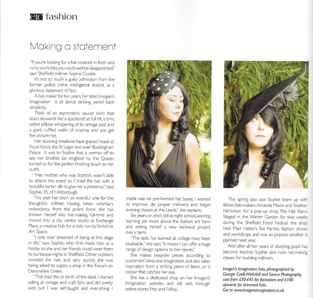 Imogen's Imagination Profile Magazine Sept 14