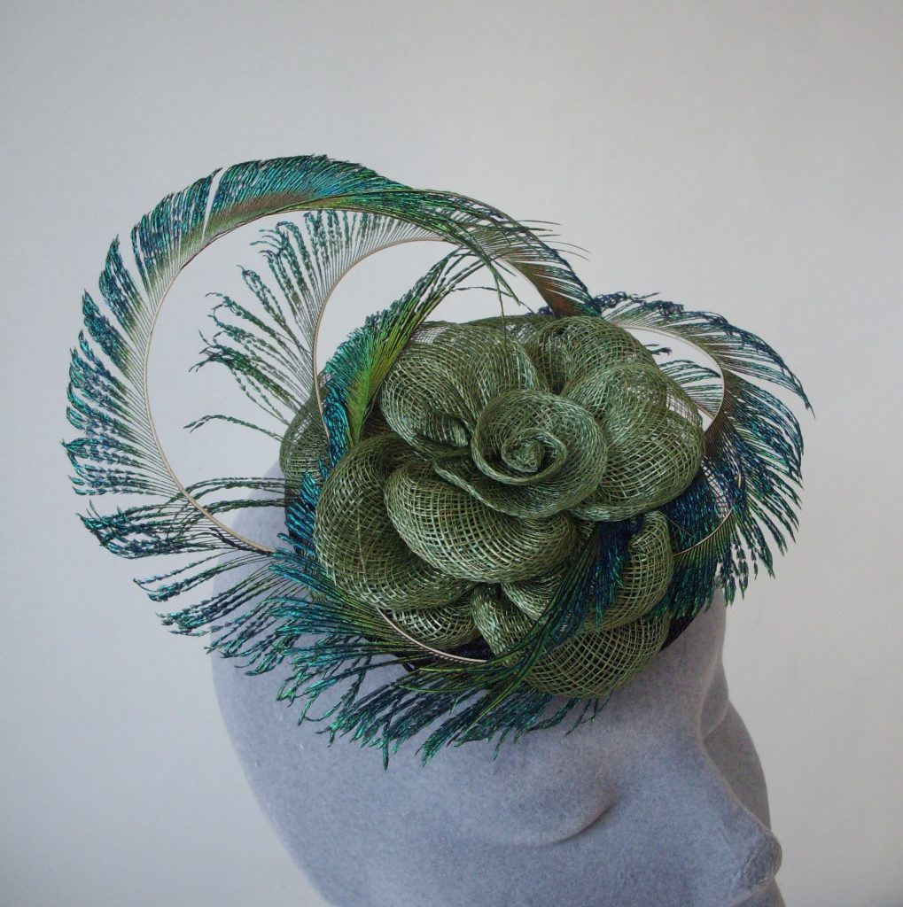 Green Peacock Feather Fascinator