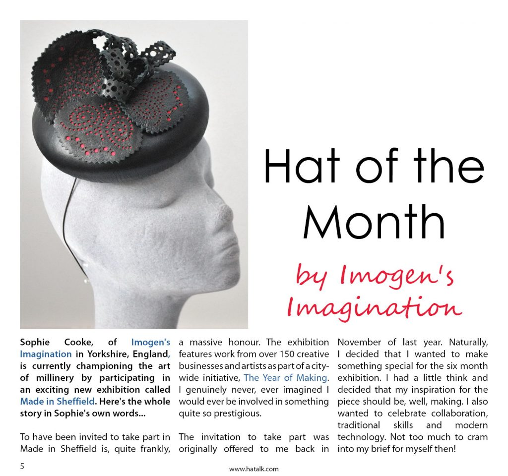 HATalk-Hat of the Month article