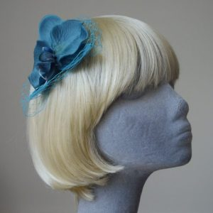 Turquoise Orchid Flower Hair Comb
