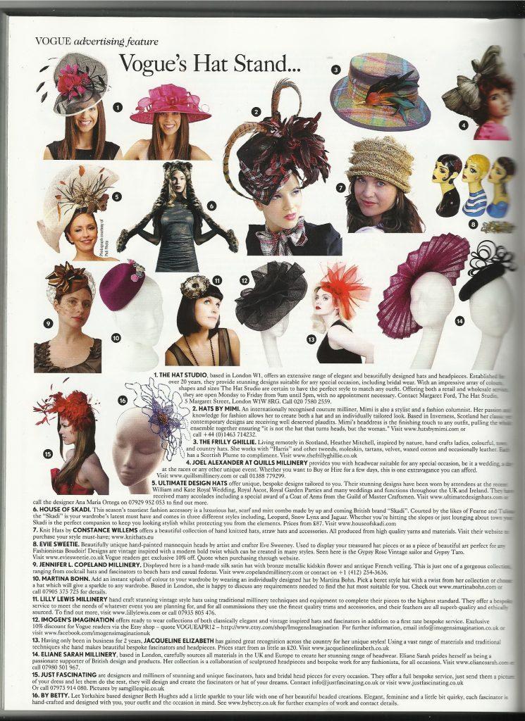 Imogen's Imagination Vogue Magazine April 2012