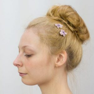 Lilac Blossom Flower Hair Clips