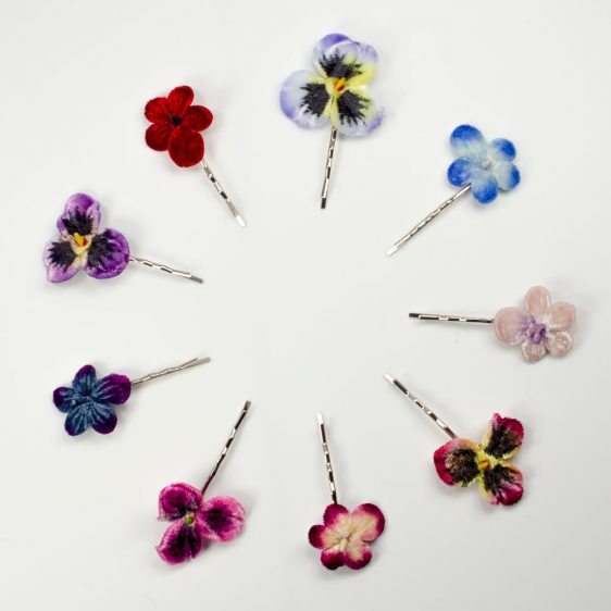 Velvet Flower Hair Clips