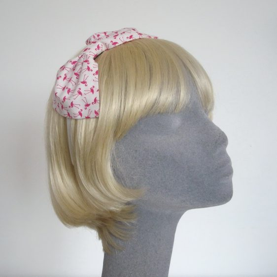 Pink Flamingo Bow Headband